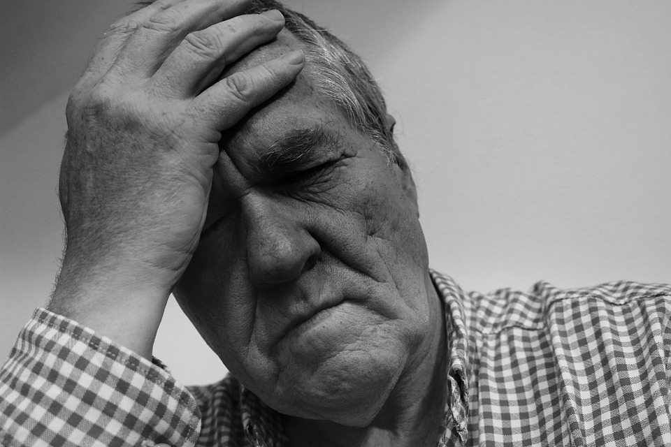 senior man in despair